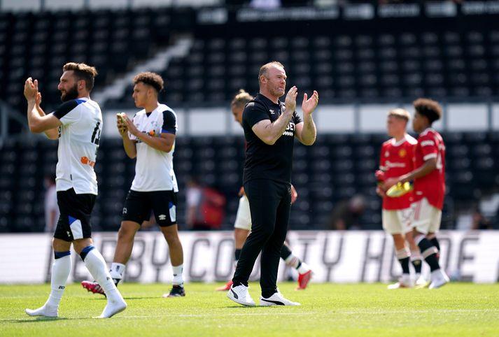 Wayne Rooney er í vandræðum hjá Derby County.