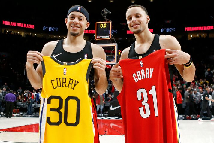 Stephen Curry og Seth Curry.