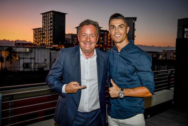 Ronaldo og Piers Morgan.