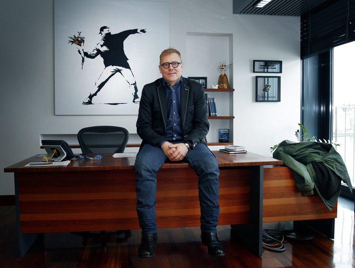 Banksy vakti ávallt athygli gesta á skrifstofu Jóns Gnarr.