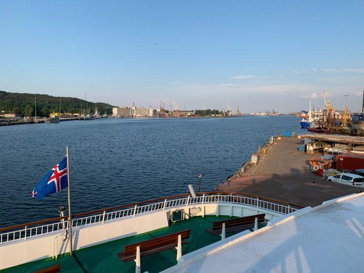 Lagt af stað úr höfn í Gdynia