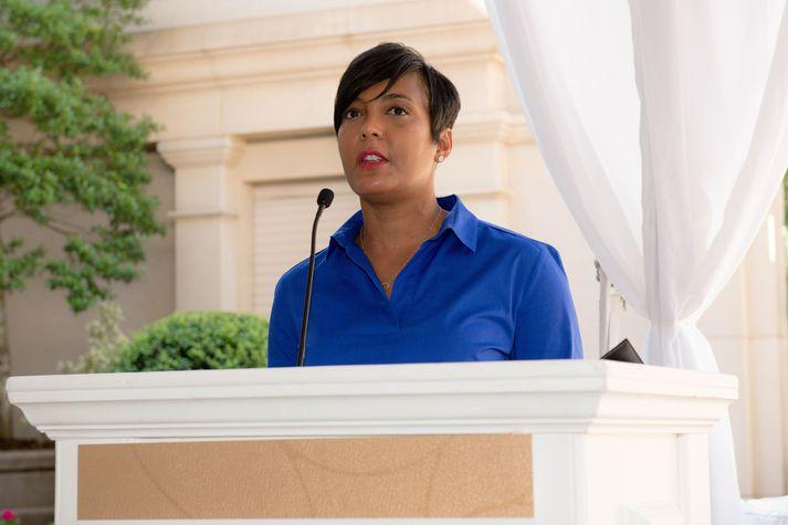 Keisha Lance Bottoms hefur greinst með kórónuveirusmit. Hún hefur verið borgastjóri Atlanta frá ársbyrjun 2018