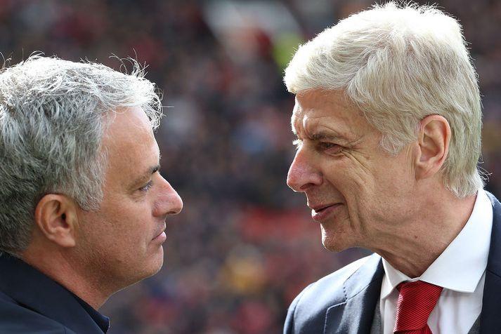 José Mourinho og Arsène Wenger.