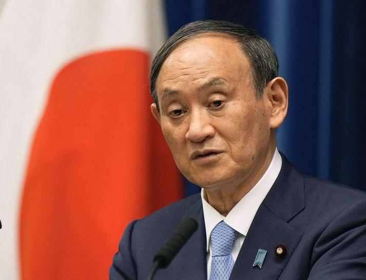 Yoshihide Suga tók við sem forsætisráðherra Japans á síðasta ári af Shinzo Abe sem þá hafði gegnt embættinu í átta ár samfleytt.