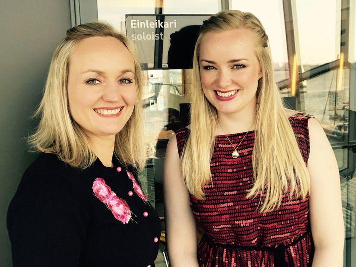Eva Þyri og Lilja eru góðar vinkonur og vinna mikið saman.