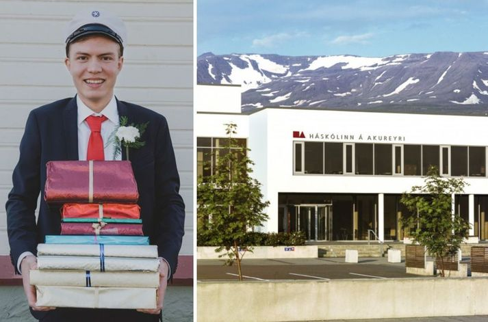 Davíð Atli Gunnnarsson útskrifaðist úr Framhaldsskólanum á Húsavík í fyrra með ágætiseinkunnina 9,38. Hann fær ekki inngöngu í Háskólann á Akureyri í haust.