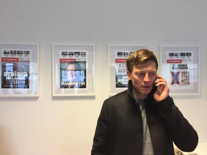 Jón Trausti Reynisson er ritstjóri Stundarinnar en GlitnirHoldco fór fram á lögbann á fréttaflutning miðilsins og Reykjavík Media úr gögnum frá Glitni.