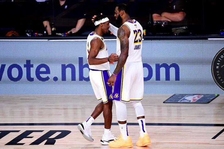 Rajon Rondo hjálpaði LeBron James að vinna sinn fyrsta NBA titil með Los Angeles Lakers árið 2020.