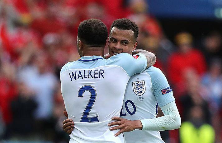 Walker og Alli voru félagar með lands - og félagsliðum, þar til Walker fór til Manchester City í sumar