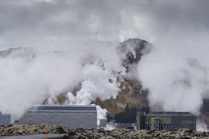 Jarðvarmavirkjunin að Svartsengi á Reykjanesi sem er í eigu HS Orku.