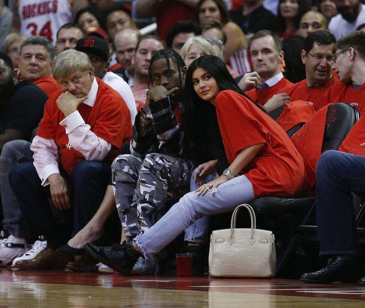 Skötuhjúin Travis Scott og Kylie Jenner.