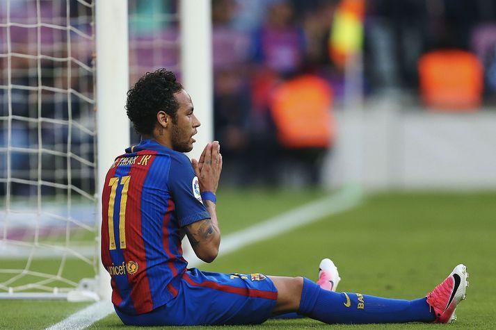 Við sjáum Neymar líklega ekki í treyju Barcelona á næstunni.