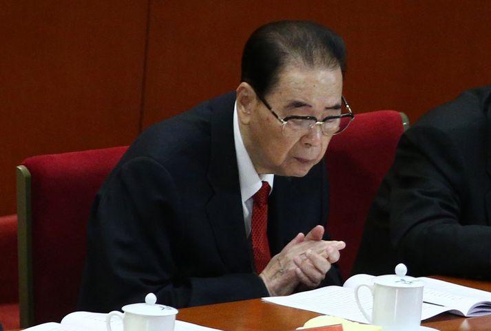 Li Peng á landsfundi Kommúnistaflokks Kína árið 2017.