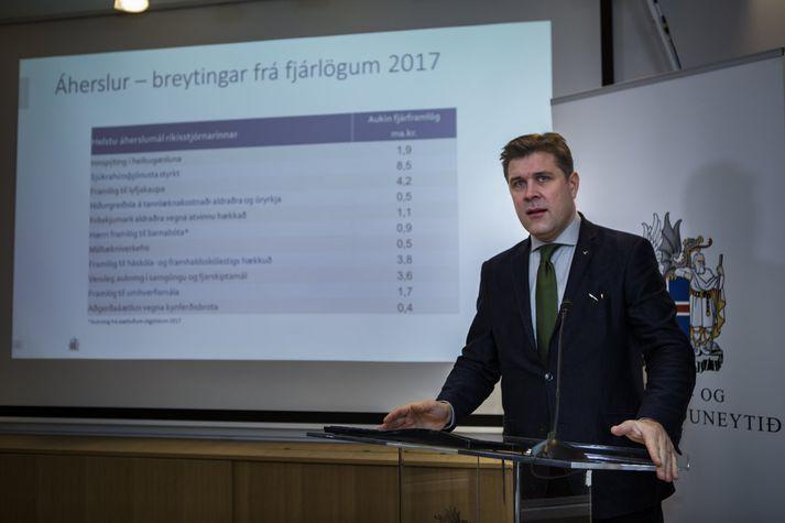 Bjarni Benediktsson fjármálaráðherra mælti fyrir stjórnarfrumvarpinu.