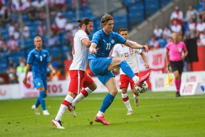 Jón Daði Böðvarsson lék sinn 60. A-landsleik gegn Póllandi í júní, í 2-2 jafntefli.