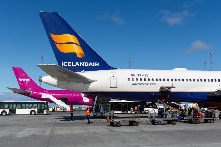Icelandair og WOW air verða áfram rekin undir sömu vörumerkjum en sameiginleg hlutdeild þeirra á markaðinum yfir Atlantshafið er tæplega 4 prósent. Verður félagið um það bil það tíunda stærsta á markaðinum.