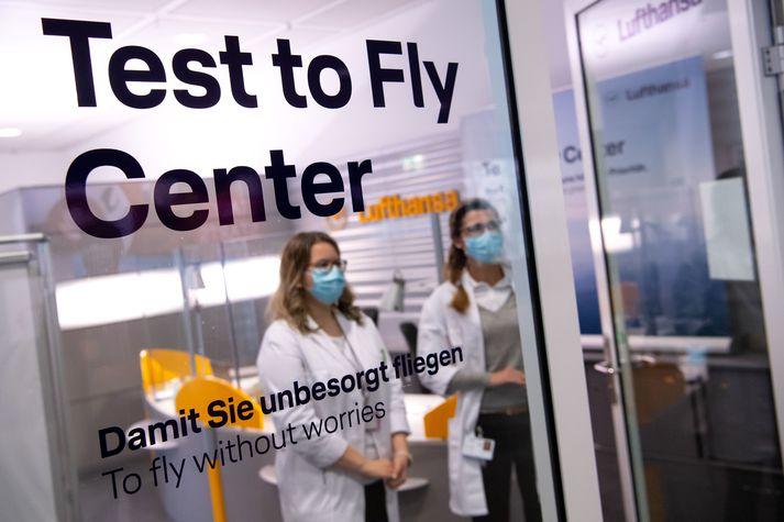 Lufthansa er á meðal þeirra flugfélaga sem nýtt hafa sér hraðprófin í innanlandsflugi.
