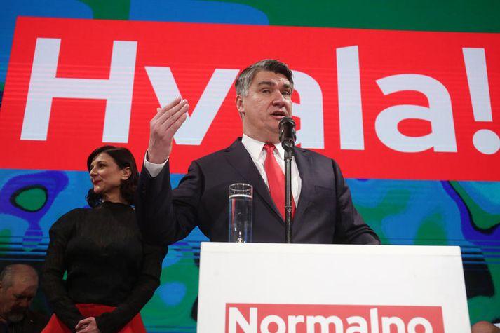 Zoran Milanovic var frambjóðandi Jafnaðarmanna og gegndi embætti forsætisráðherra á árunum 2011 til 2015.