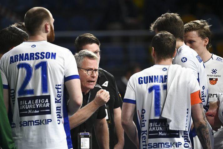 Guðmundur Guðmundsson fann ekki leið til að koma sóknarleiknum í gang.