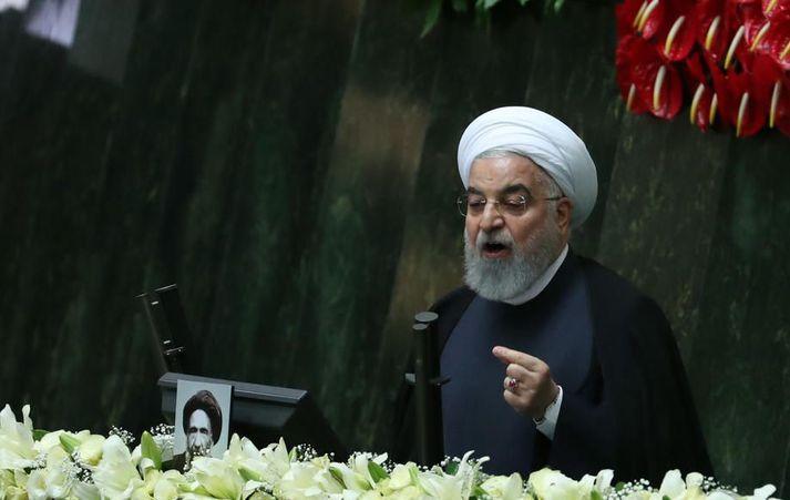 Hassan Rouhani, forseti Írans, gaf skipun fyrir aukinni úranauðgun í morgun.