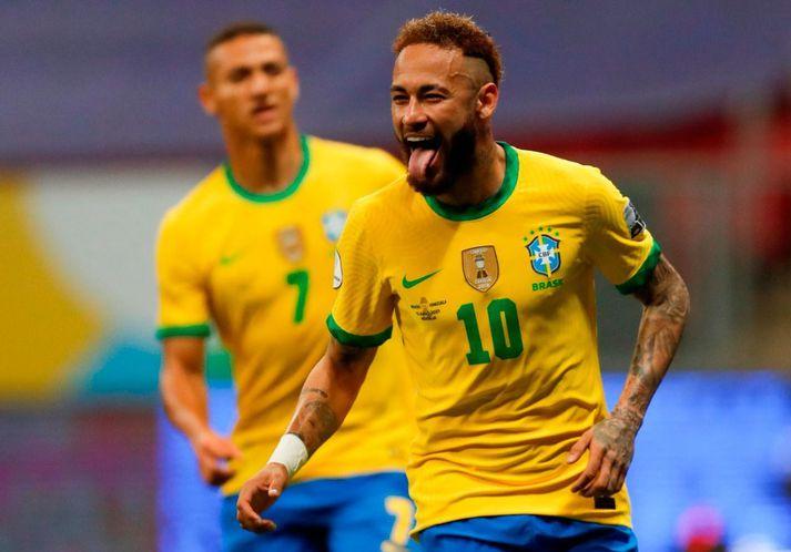 Neymar var á skotskónum í kvöld.
