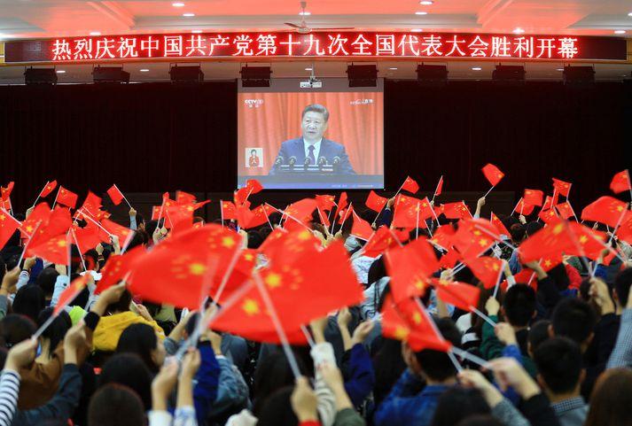 Xi Jinping nýtur mikillar hylli í heimalandinu.