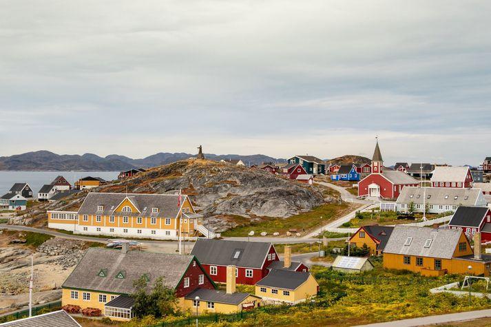 Frá Nuuk. Alls hafa fjörutíu manns greinst með kórónuveiruna á Grænlandi frá upphafi faraldursins.