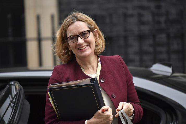 Amber Rudd, fyrrverandi innanríkisráðherra Bretlands.