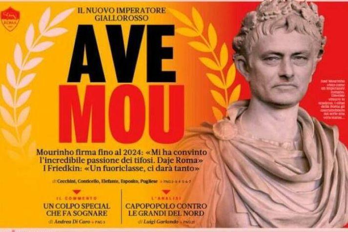 Fólkið á ítalska blaðinu La Gazzetta dello Sport sér Jose Mourinho í nýju ljós eftir fréttir gærdagsins.