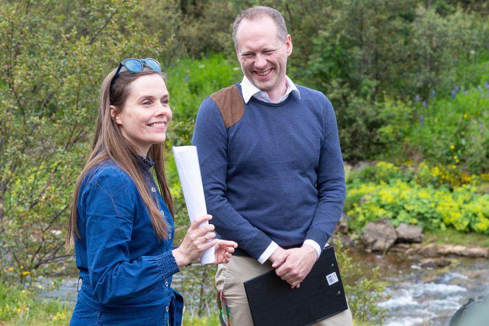 Katrín Jakobsdóttir og Guðmundur Ingi Guðbrandsson.