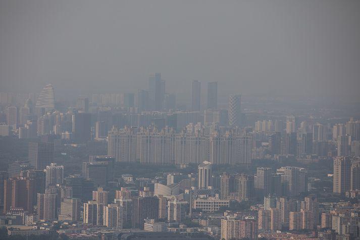 Kínverskar stórborgir eins og Beijing eru á meðal mest menguðu borga jarðar.