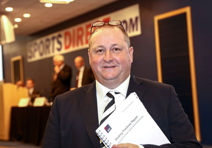 Hinn litríki Mike Ashley.