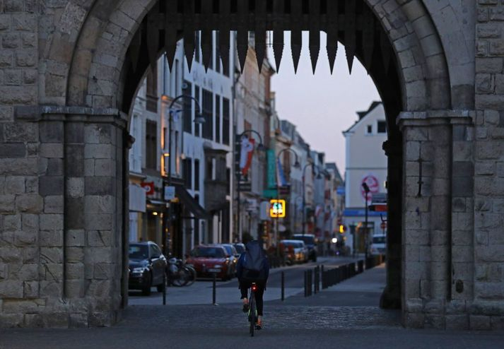 Fámennar götur í Köln í Þýskalandi.