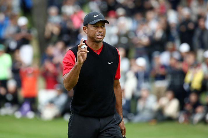 Tiger Woods á mótinu.