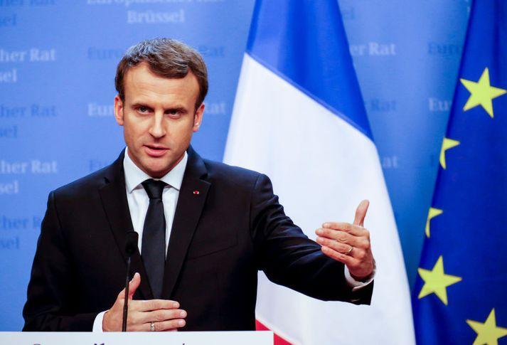 Emmanuel Macron, forseti Frakklands, vill sporna við útbreiðslu falsfrétta í kringum kosningar í landinu.