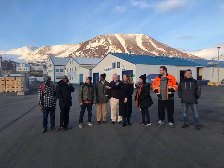 Hópurinn í heimsókn á Dalvík.