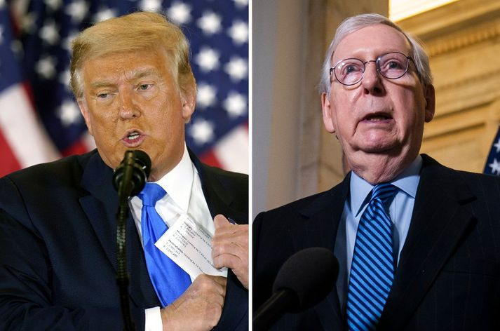Donald Trump og Mitch McConnell.