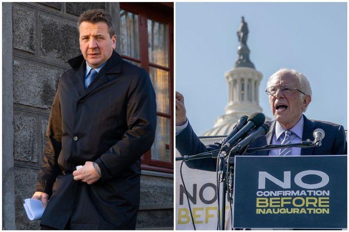 Guðlaugur Þór Þórðarson, utanríkisráðherra, og Bernie Sanders, fyrrverandi forsetaframbjóðandi, eru meðal þeirra sem hafa fordæmt handtökuna á rússneska stjórnarandstæðingnum Alexei Navalní.