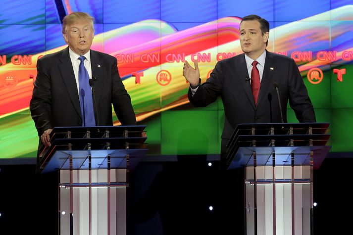 Donald Trump og Ted Cruz.
