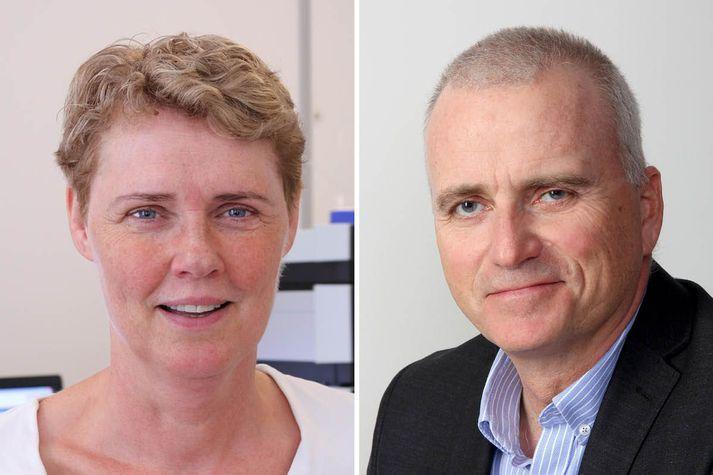 Helga Gunnlaugsdóttir og Sveinn Aðalsteinsson.