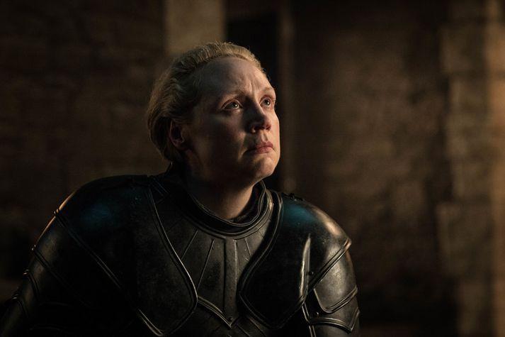 Gwendoline Christie fór með hlutverk Brienne of Tarth í þáttunum vinsælu.