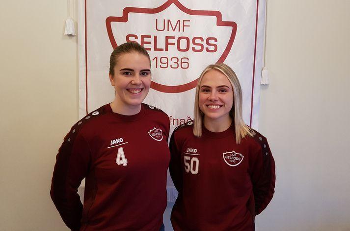 Hrafnhildur Hanna Þrastardóttir og Perla Ruth Albertsdóttir.