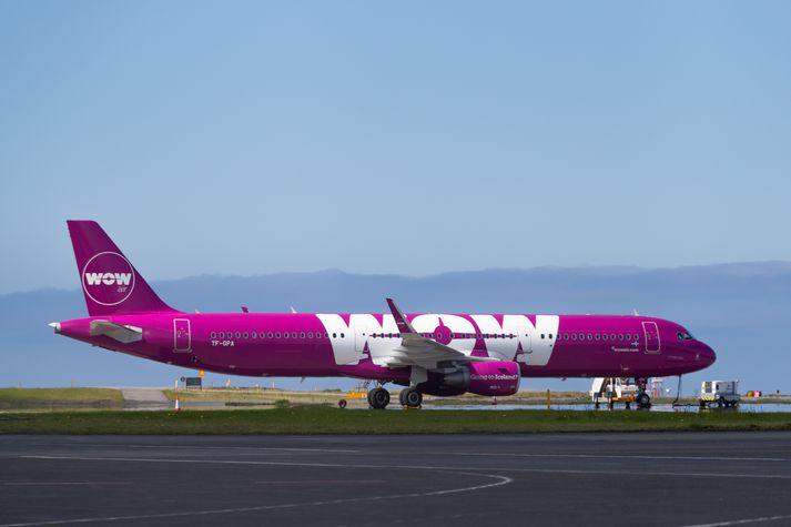 Ein af flugvél WOW air þegar flugfélagið var í rekstri.