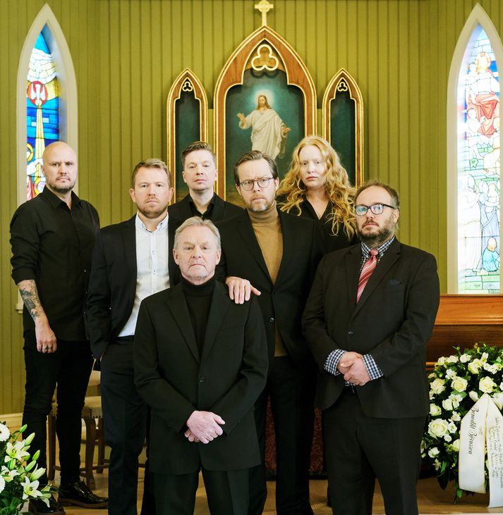 Jón Gunnar Geirdal, Sóli Hólm, Baldvin Zophoniasson, Kristófer Dignus, Hekla Elísabet Aðalsteinsdóttir, Ragnar Eyþórsson og Laddi.