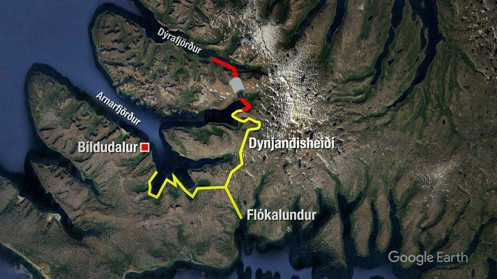 Til stendur að leggja heilsársveg um Dynjandisheiði.