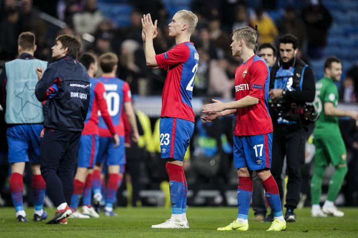 Hörður Björgvin Magnússon og Arnór Sigurðsson hafa verið liðsfélagar hjá CSKA Moskvu síðustu ár.