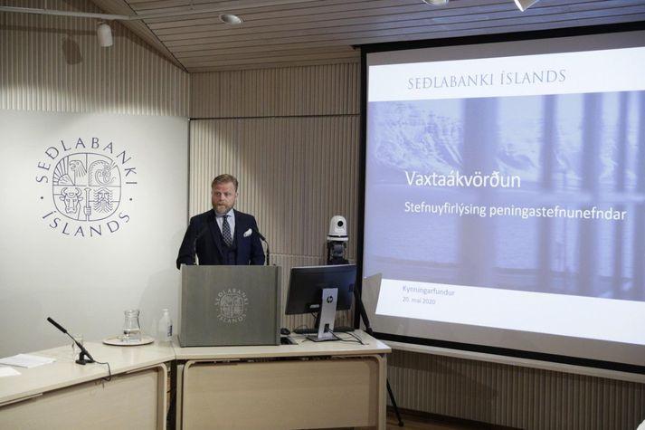 Ásgeir Jónsson seðlabankastjóri bauð viðstadda velkomna.