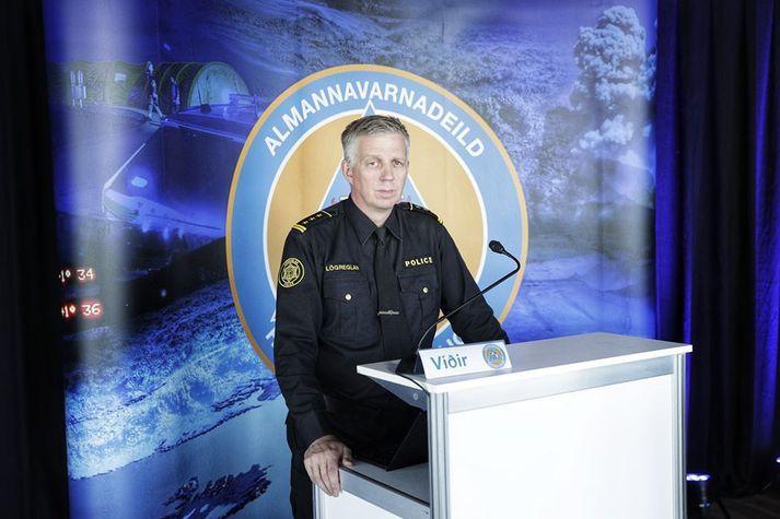 Víðir Reynisson, yfirlögregluþjónn almannavarna.