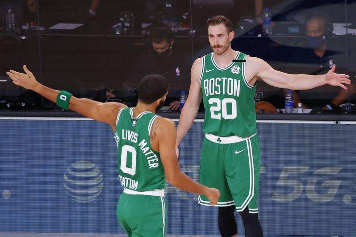 Gordon Hayward kom aftur inn í lið Boston Celtics í síðasta leik og Jayson Tatum var sáttur með það.