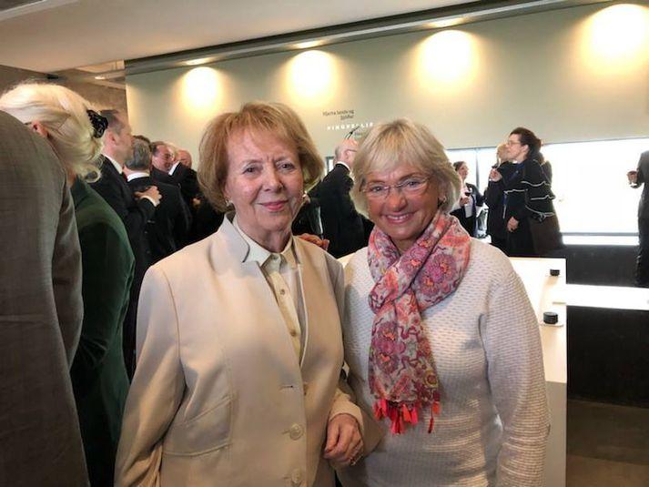 Pia Kjærsgaard segir að það hafi verið sönn ánægja að hitta Vigdísi Finnbogadóttur.